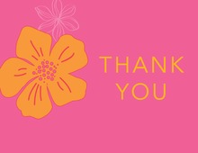 Tropical Paradise Flower Pink Thank You Cards