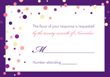 Playful Spray Purple Dots RSVP Cards