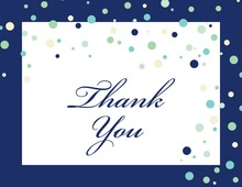 Playful Spray Blue Dots Thank You Cards