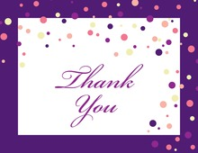 Playful Spray Purple Dots Thank You Cards