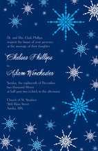 Playful Snowflakes Blue Invitations