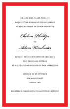 Simple Trendy Red Border Invitations