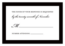 Simple Black Border RSVP Cards