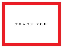 Simple Red Border Thank You Cards