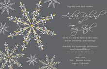 Dainty Snowflakes Yellow Invitations