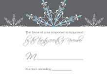 Exquisite Snowflakes Blue RSVP Cards