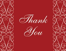 Charming Bold Red Thank You Cards