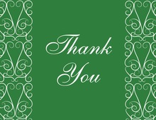 Charming Modern Green Thank You Cards