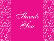 Stylish Lovely Pink Thank You Cards