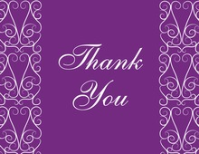 Elegant Lovely Purple Thank You Cards