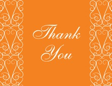 Elegant Lovely Orange Thank You Cards