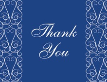 Freshly Modern Blue Thank You Cards