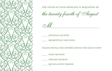 Charming Modern Green RSVP Cards