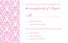 Stylish Lovely Pink RSVP Cards