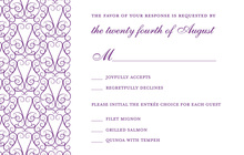 Elegant Lovely Purple RSVP Cards