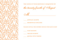 Elegant Lovely Orange RSVP Cards