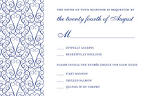 Freshly Modern Blue RSVP Cards