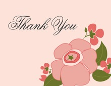 Lovely Modern Pink Thank You Cards