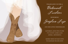 Charming Western Bride Bridal Shower Invitations