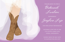 Stylish Charming Bride Western Boots Bridal Invitations