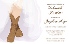Modern Bride Western Boots Shower Invitations