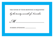 Simply Modern Blue Border RSVP Cards