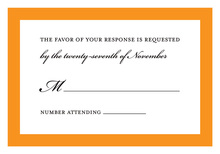 Traditional Orange Border RSVP Cards