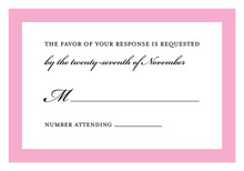 Simply Modern Pink Border RSVP Cards