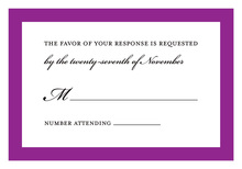 Purple Border Designed RSVP Cards