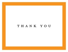 Traditional Orange Border Thank You Cards