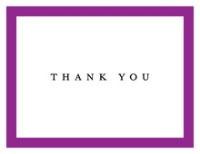 Purple Border Designed Thank You Cards