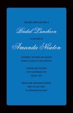 Blue Panel Black Border Business Invitations