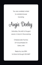 White Panel Black Border Formal Party Invitations