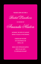 Fancy Hot Pink Party Border Party Invitations