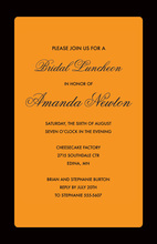 Modern Orange Border Party Invitations