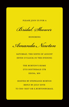 Stylish Yellow Border Party Shower Invitations