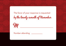 Stylish Red Formal RSVP Cards