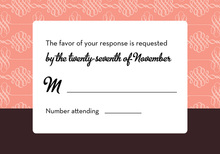 Exquisite Pink Formal RSVP Cards