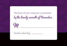Unique Purple Flourish RSVP Cards