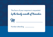 Featuring Blue Flourish RSVP Cards