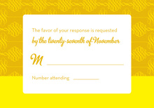 Introducing Modern Yellow RSVP Cards