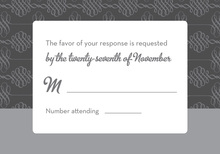 Introducing Modern Grey RSVP Cards
