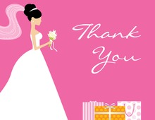 Gifts Everywhere For Bride Thank You Cards