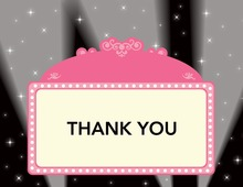 Pink Panel At Night Thank You Cards