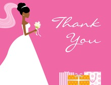 African-American Gifts Pink Thank You Cards