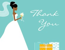 African-American Gifts Teal Thank You Cards