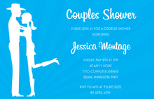 Romantic Western Couple Shower Invitations