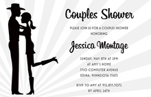Silhouette Western Couple Shower Invitations