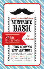 Black Mustache Bash Invitations