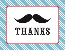 Mustache Bash Thank You Cards